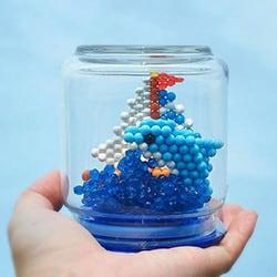 Bateau et dauphin en 3D