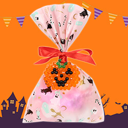 Ghost pumpkin wrapping tag