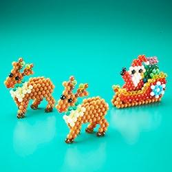 3D Reindeer and Santa