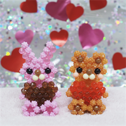 3D Hase & Bär mit Herz