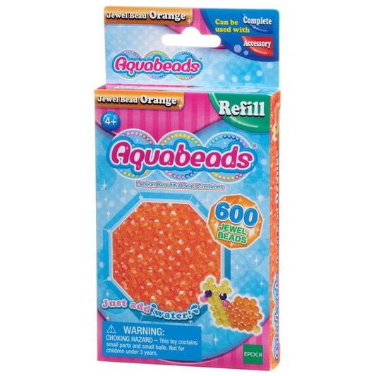 Perles multi-facettes orange