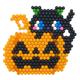 Black cat and pumpkin