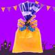 Halloween ribbon wrapping tag